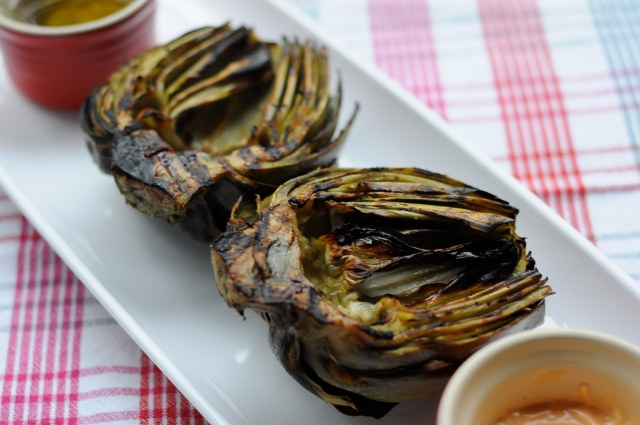 Grilled Artichokes | The Kitten Kitchen